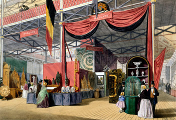 Dutch stand at the Great Exhibition  Crystal Palace  London  1851.