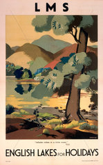 'English Lakes for Holidays'  LMS poster  c 1930s.