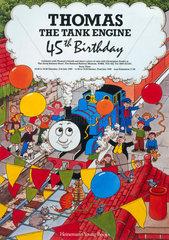 'Thomas the Tank Engine 45th birthday'  NRM poster  21 July 1990.