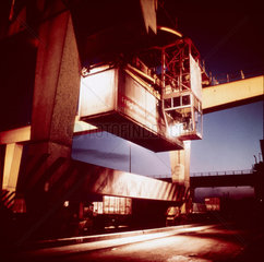Containers  freightliner depot.