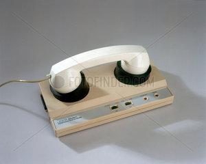 Acoustically coupled modem  1980s.
