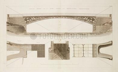 Llynnon Bridge over the River Conwy  1838.