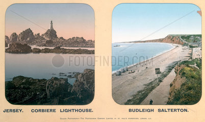 Corbiere Lighthouse  Jersey  and Budleigh Salterton  Devon  1910s.