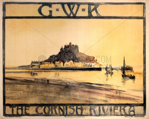The Cornish Riviera  GWR poster  c 1925.