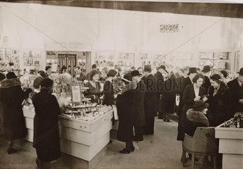 Interior of Boots the Chemist  Regent Street  London  8 December 1932.