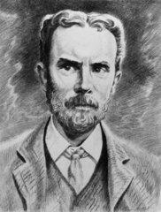 Oliver Heaviside  English physicist  c 1900.