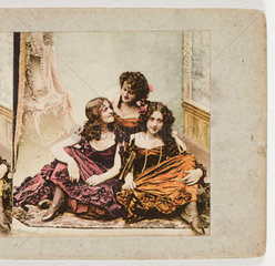 Three young women  c 1895.