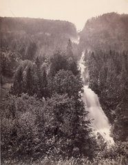 Giessbach Falls near Lake Brienz  Switzerland  c 1850-1900.