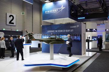Schoenefeld  Deutschland  Messestand von Sikorsky auf der ILA 2016