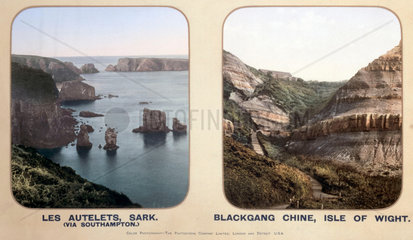Les Autelets  Sark  and Blackgang Chine  Isle of Wight  1910s.