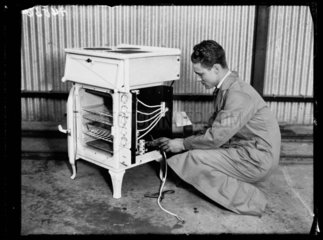 Wiring an electric stove  1932.