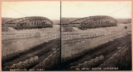 'Manchester Ship Canal  Swing Bridge  Latchford'  1893-1894.