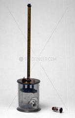 Quadrant electrometer built by Pierre Curie  1880-1890.