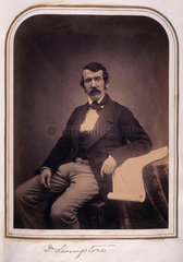 David Livingstone  missionary and explorer  c 1840s.