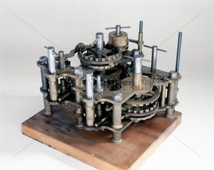 Demonstration model of Babbage's Difference Engine No 1  19th century.