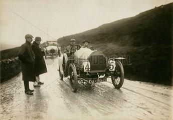 Humber racing car  Lancashire  c 1912.