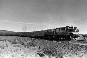 The Indian-Pacific train's inaugural run  Australia  May 1970.