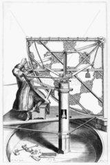 Hevelius's quadrant  c 1659. Plate from