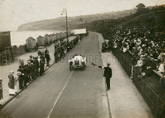 Sunbeam car at Colwyn Bay Speed Trials  c 1912.