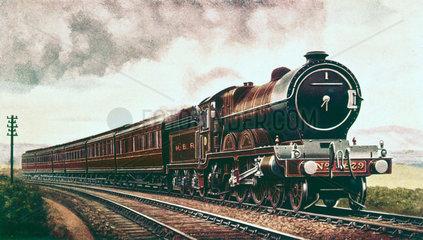 'The Norfolk Express'  GER steam locomotive  c 1913.