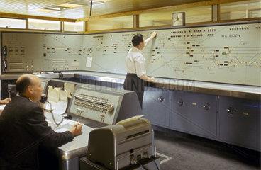 Interior of Willesden Signal Box  December 1966.