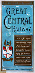 Front cover of a Great Central Railway guide book  1910.