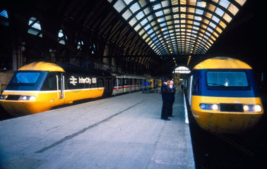 InterCity High Speed Train  King's Cross Station  London  c 1980s.