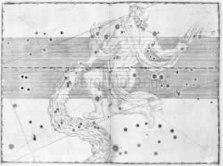 The constellation Aquarius  1603.