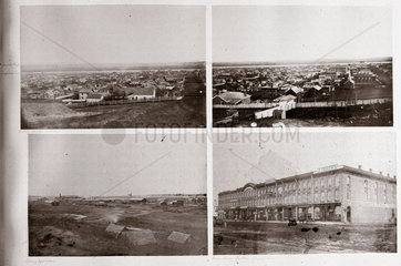 Views of towns during the American Civil War  c 1865.