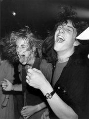 Heavy Metal fans at the Marquee Club  Wardour Street  London  June 1982.