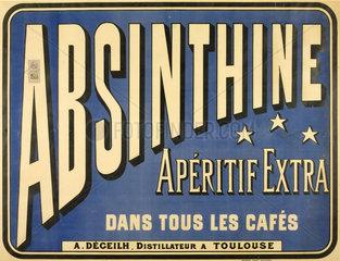 'Absinthine Aperitif Extra'  1893.