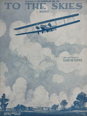 'To the Skies'  sheet music  1919.