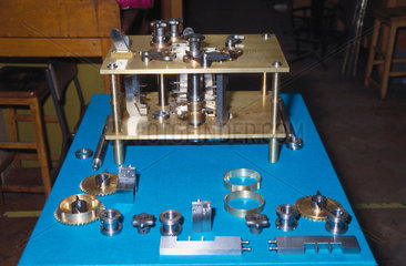 Constructing the test piece for the Difference Engine No 2  1990.