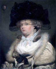 'Mrs Sage'  the first English lady balloonist  1785.