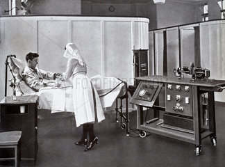 Electrocardiograph in use  1927.