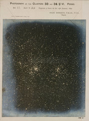 Double star cluster in the constallation of Perseus  1890.