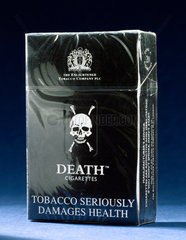Packet of 20 Death cigarettes  1999.