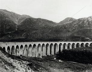 Glenfinnan Viaduct  Western Scotland  c 1910.