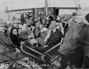 Passengers on the SS 'King Edward'  Scotland  1910s-1920s.
