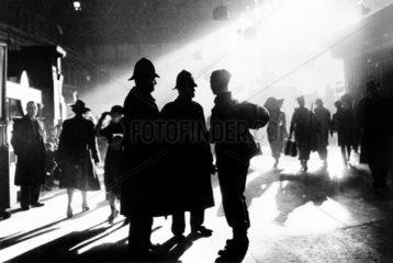 Waterloo station in wartime  London  c 1943