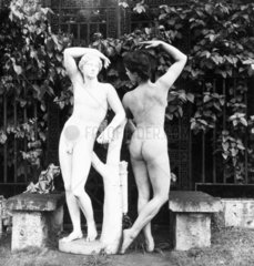 Nude with classical statue  c 1959.