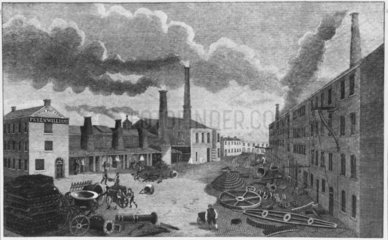 Peel and Williams Foundry  Manchester  1814.