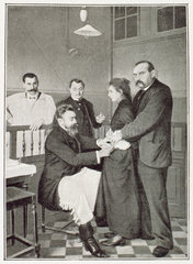 Inoculating a patient  Paris  c 1909.