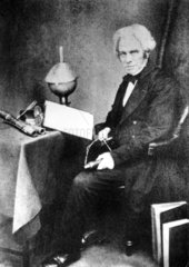 Michael Faraday  English physicist  c 1855.