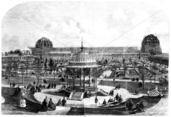 Construction of the International Exhibition  London  1862.