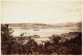 'Quebec from Pont Love'  1860.