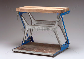 Folding joiner's workbench  c 1969.