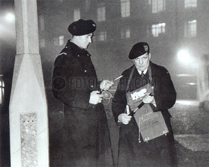 Smog wardens  London 1955.