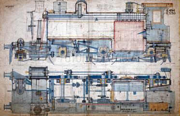 Drawing of 2-6-0 locomotive  1878.