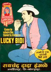'Lucky Bidi' cigarette advertisement  India